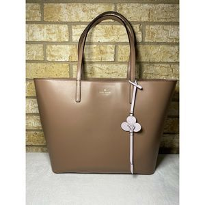Kate Spade Beige Kelsey Smooth Leather Large Tote